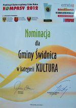 Nominacja - Samorządowy Lider Roku KOMPASY 2012