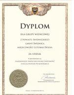 Dyplom dla Grupy Wieńcowej z Powiatu Świdnickiego Gminy Świdnica Miejscowości Lutomia Dolna