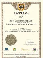 Dyplom dla KGW z Lutomi Dolnej