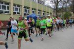 foto: Start do biegu podczas III Crossu Mokrzeszowskiego