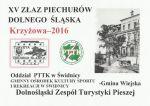 baner - XV ZŁAZ PIECHURÓW DOLNEGO ŚLĄSKA - KRZYŻOWA