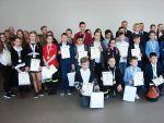 foto: Laureaci eliminacji powiatowych Ogólnopolskiego TurniejuMŁODZIEŻ ZAPOBIEGA POŻAROM
