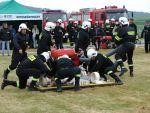 foto: Zmagania zawodników  podczas Gminnych Zawodów Pożarniczych