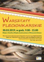 Plakat: Warsztaty wikliniarskie w Witoszowie Dolnym