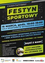 plakat - Charytatywny festyn sportowy dla Asi