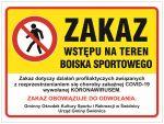 Czasowy zakaz korzystania z infrastruktury sportowej