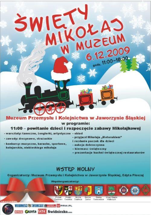 Święty Mikołaj w Muzeum Kolejnictwa
